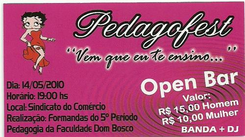 Pedagofest - 14/05/2010 - Sindicato do Comércio