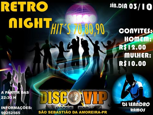 Retro Night - Disco Vip - 03/10