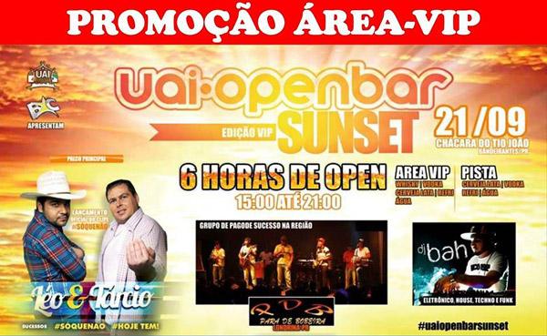 Uai Open Bar - Sunset - 21/09